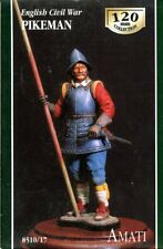 AMATI 120mm Englishi Civil War Pikeman Resin Figure Kit #8510/17