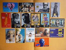 16 télécartes thème cinéma