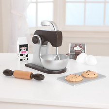 Kidkraft Espresso Wooden baking set | Wooden Mixer Rolling Pin Kitchen Play Set