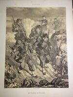 Aimé DE LEMUD (Thionville 1817-1887) Litho TIRAILLEURS VINCENNES LORRAINE 1860