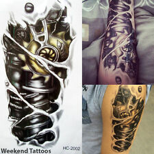 New! Terminator Tattoo Temporary Stickers Body Art 3D Tatoo Steam Punk Robot Arm