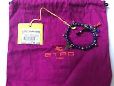 Etro Milano Stones stretch bracelet tribal made in Italy Size S