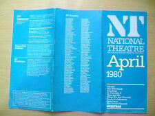National Theatre Programme April 1980- MULTI PROGRAMME & Schedule