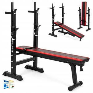 Home Fitness Folding Flat Weight Lifting Bench Body Workout Adjustable Lifting