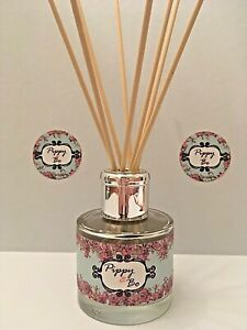 Reed Diffuser - Hand Poured - 100ml Glass Bottle - Fragrance Champagne Roses