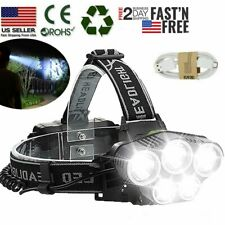 Rechargeable 350000LM 5X T6 LED Super Bright Headlamp Headlight Flashlights Lamp