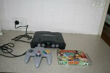 NINTENDO 64 PAL SYSTEM WITH ONE CONTROLLER AND DIDDY KONG RACING EXCELLENT COND