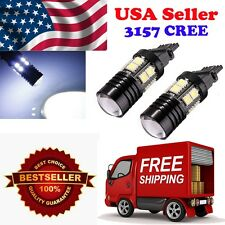 4 x 3157 3057 Back Up Reverse Project Cree + 12-SMD LED Light Bulb White 6000K
