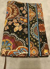 Vera Bradley Kensington Brown Paisley Book Journal Cover w/ Ribbon 7.5 x 5