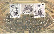 SAN MARINO  francobolli usati 1986 in foglietto 15° RAPPORTI UFFICIALI CON CINA