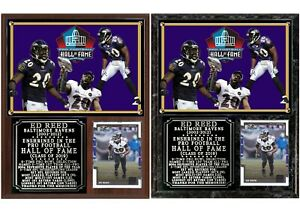 Ed Reed 2019 Pro Football Hall of Fame Photo Card Plaque