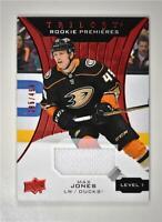 2019-20 UD Trilogy Red Foil Material #57 Max Jones /499 - Anaheim Ducks