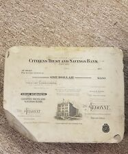 Lithograph Printing Stone 1900's Toledo Ohio Citizens Trust and savings Bank