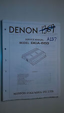 Denon dca-600 service manual original repair book stereo power amp amplifier
