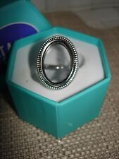 Authentic Origami Owl Silver Heirloom Hinged Living  Locket Ring Size 8 NIB