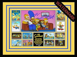THE SIMPSONS - BART - HOMER - MARGE -LIMITED EDITION SIGNED & FRAMED MEMORABILIA