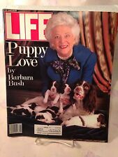 LIFE MAGAZINE MAY 1989 BARBARA BUSH PUPPY LOVE NOLAN RYAN VINTAGE ADVERTISEMENTS