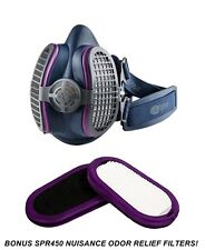 GVS Elipse SPR457 P100 Half Mask Respirator, BONUS Nuisance Odor Filters, M/L