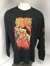 Abominable Putridity Heavy Metal Band Music Tour Black L/S T-Shirt Sz 3XL