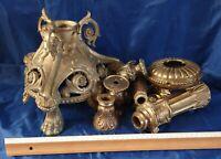 Lots De 12 Pièces Anciennes En Bronze Où Laiton Poids 8kg Avec Emballage 10kg