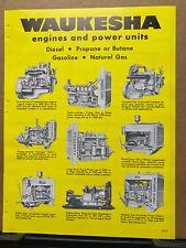 Vtg Waukesha Motor Co Brochure Diesel Gasoline Engines V 12 1957