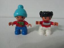 Lego Duplo Children People Figures Minifigs Girl Boy Winter Lot Set