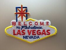 Las Vegas Sign Patch - Iron On Badge - Biker Rider US USA Nevada - Embroidered