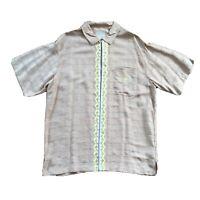 jordan two 3 linen button Down shirt Mens Large Jumpman 23