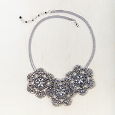 Silver Tone Floral Bib Necklace Starfish Project Fair Trade New with tags