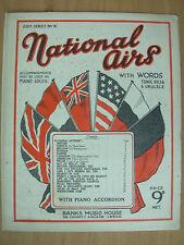 Vintage sheet music book national airs des alliés avec des mots