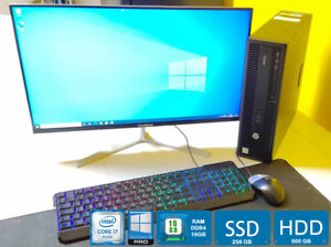 Potente HP EliteDesk 800 G2 I7 + RAM 16 GB + SSD 256 + HDD 500 PC