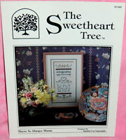 Sweetheart Tree There Is Always Music Cross Stitch Chart Pattern Sampler Heart