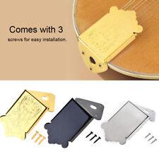 Mandolin Guitar Delicate Decorative Tailpiece with 3 Screws Gold/ Silver / Black