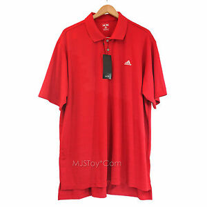 NWT Adidas Men Golf Polo Short Sleeve Shirt Athletic Red Size XXL