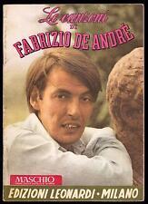 FABRIZIO DE ANDRE' SPARTITO MUSICALE LE CANZONI DI FABRIZIO DE ANDRE' - LEONARDI