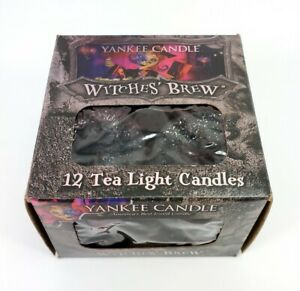 Yankee Candle Witches' Brew Tealights Tea Lights Box of 12 New Halloween Retired