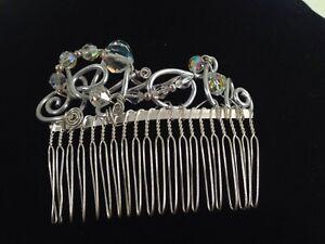Random By Tara Original Handmade Hair Comb - Perfect Piece For Bridal Or Prom