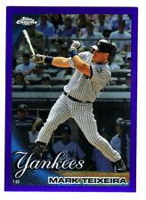 2010 Topps Chrome PURPLE REFRACTOR 75 MARK TEIXEIRA 215/599 New York Yankees