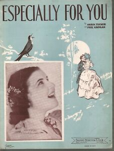 Especially For You 1938 Baby Rose Marie Sheet Music