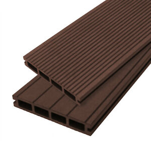 Composite Decking Boards Edging Wood Plastic Fixings Pack  / 5 SQM Conker Brown