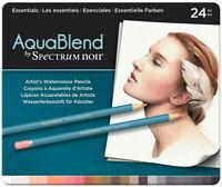 Spectrum Noir AquaBlend Watercolour Pencils - Essentials (Tin of 24) NEW