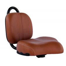 BROWN Bike Seat with Backrest  for Lowrider bicycle  Beach Cruiser Chopper