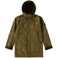 NIKE X STONE ISLAND WOOL WINDRUNNER MEDIUM PARKA WINTER COAT LAB OLIVE GREEN M