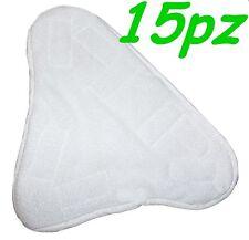 SET 15 PANNI MICROFIBRA PER SCOPA A VAPORE X5 H2O MOP H20  CON VELCRO PAVIMENTO