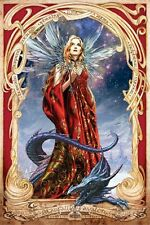 ALCHEMY GOTHIC ~ STARFALL AVALON FAIRY ~ 24x36 FANTASY ART POSTER Dragon Faery