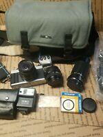 Minolta XG-1 35mm Film Camera + Minolta 50mm 1:2 Lens and Filter UNTESTED