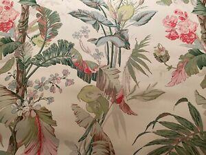 """5YD x 57""""w SCHUMACHER 5010481 TROPIQUE Blush Painterly Wallpaper $500 Retail"""