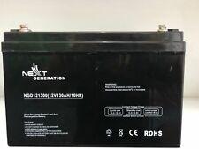 130AH 12V AGM Deep Cycle Battery 12 Volt Fridge Solar Boat Caravan Minn kota ect