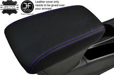 PURPLE STITCHING LEATHER ARMREST COVER FITS VAUXHALL OPEL ASTRA K MK7 2016+