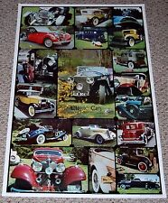 CLASSIC CAR Collage Photo Poster 1983 1920's 1930's 1940's Packard Mercedes Ford